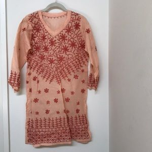 Vintage Indian cotton beach cover up